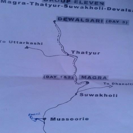 Photo by Dr. Prasanna Sriya; Trail Map