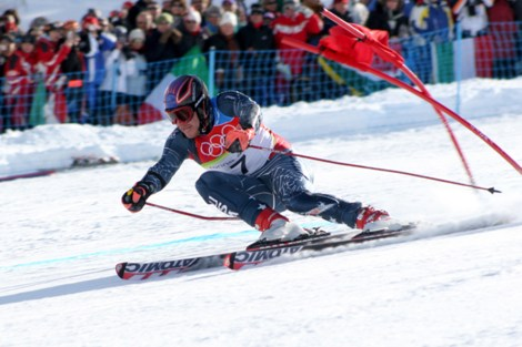 Alpine skiing, sometimes called downhill skiing, need endurance, strength, and flexibility. Photograph by Thomas Grollier, courtesy Wikimedia. This file is licensed under the Creative Commons Attribution-Share Alike 1.0 Unported license.