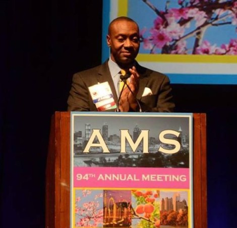 J. Marshall Shepherd is a meteorologist, adviser to NASA and NOAA, and director of the program in atmospheric sciences at the University of Georgia. He also served as the president of the American Meteorological Society (AMS). Photograph courtesy J. Marshall Shepherd and Wikimedia. This work has been released into the public domain by its author, J. Marshall Shepherd. This applies worldwide.