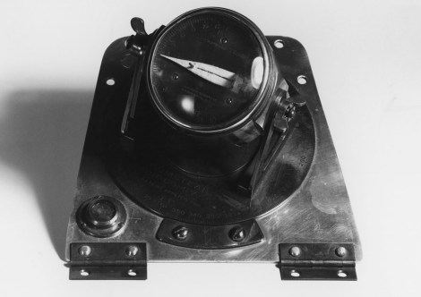 """National Geographic Society cartographer Albert Bumstead made this remarkable """"sun compass"""" for polar navigation. In essence, it worked like the opposite of an old-fashioned sundial—instead of using the shadow's direction to determine the time, Byrd used his knowledge of the time to figure out which way was north! Photograph by Willard Culver, National Geographic"""