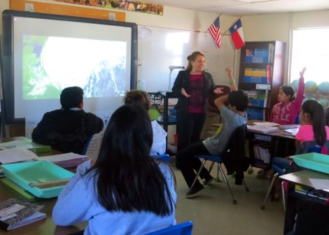 Melissa engages her students across subject areas when teaching about natural disasters. Photograph by Ana Cervantes