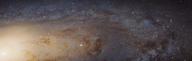 Expect more showstoppers as NASA rolls out the (infra)red carpet for Hubble's 25th birthday on April 20. Here's another new one—it's our cosmic neighbor, the Andromeda Galaxy. It's deceptively dazzling—let Phil Plait tell you about it here. Photograph by NASA, ESA, J. Dalcanton, B.F. Williams, and L.C. Johnson (University of Washington), the PHAT team, and R. Gendler