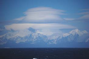 Strong winds from the South Atlantic can whip across South Georgia Island, a rocky British territory off the coast of Antarctica. Photograph by Lieutenant Elizabeth Crapo, NOAA Corps. CC-BY-2.0