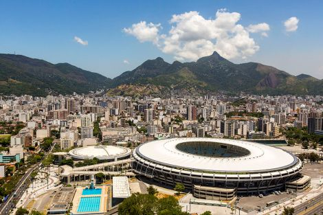 The Maracanã stadium will be the site of the opening and closing ceremonies of the 2016 Summer Olympics, held in Rio de Janeiro, Brazil. Photograph by Daniel Basil, courtesy Wikimedia. CC-BY-3.0-BR