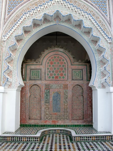 The library at al-Qarawiyyin University in Fez, Morocco, opened in 859. Photograph by Anderson sady, courtesy Wikimedia. CC-BY-SA-3.0