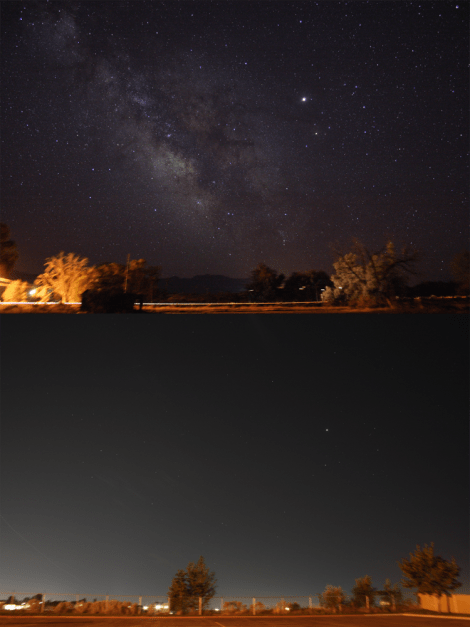 This great photo set compares the same region of sky (including the constellations of Sagittarius and Scorpius) from rural Leamington, Utah, and urban Orem, Utah. Photographs by Jeremy Stanley, courtesy Wikimedia. CC-BY-2.0