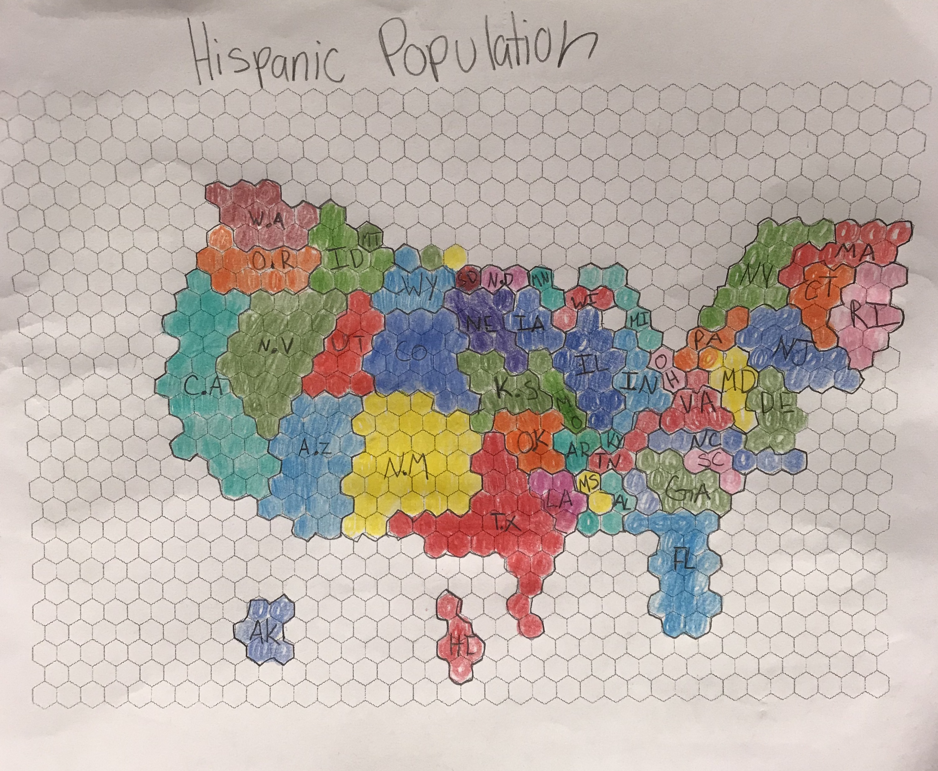 A colorful map of the United States