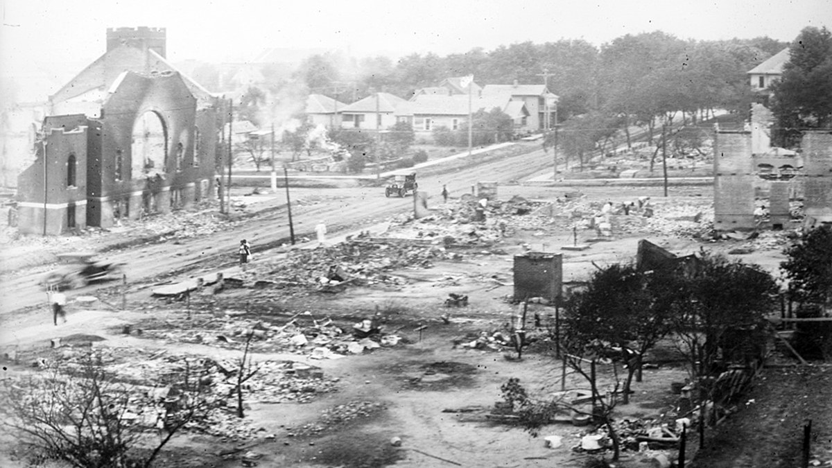 Archival image of 1921 Tulsa Race Massacre