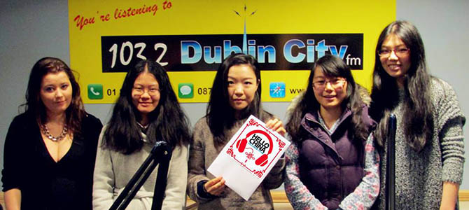 Volunteering as a sound engineer for Hello China at Dublin City FM
