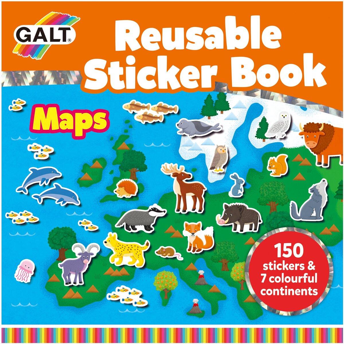 Carte cu stickere - Harta
