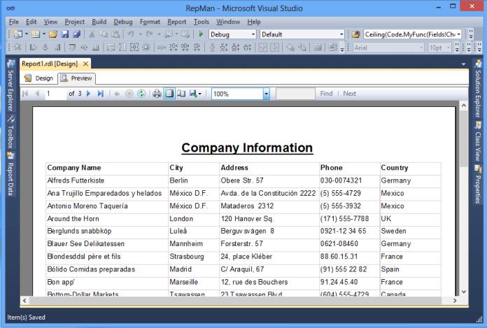 Tabular Reports (Tablix)