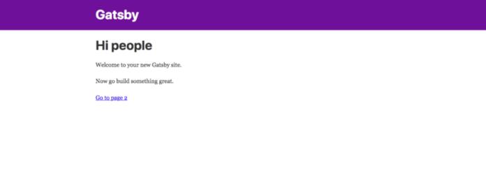 Gatsbyjs application