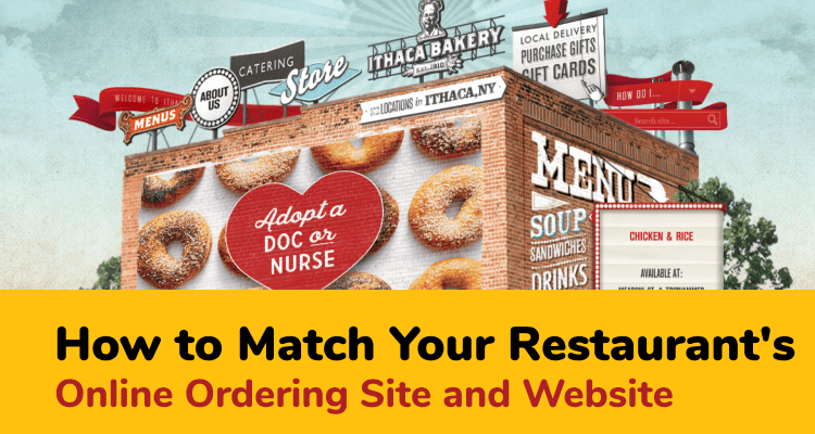 matching online ordering site