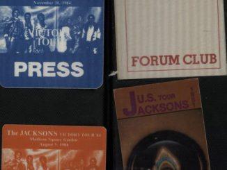 Michael Jackson tour passes