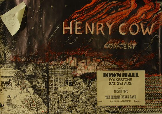 Dick S Picks Henry Cow Original Vintage Concert Poster