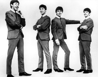 "The Beatles, Paul McCartney, John Lennon, George Harrison, Ringo Starr released ""Love Me Do"", their first single, October 5, 1962. (Bettman)"