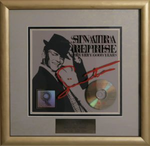 Sinatra Reprise - The Very Good Years Official US RIAA certified GOLD LP for sales of more than 500,000 copies