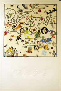 """Led Zeppelin III - very rare 2014 UK limited edition 36"""" x 24"""" litho print"""