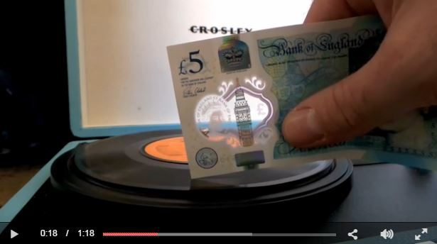 Can the new £5 note really play a vinyl record ...