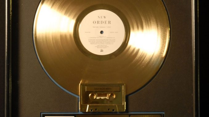 Super Rare New Order Substance Riaa Gold Sales Award From