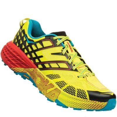 Chaussures de trail Hoka SPEEDGOAT 2 BLACKEVENING PRIMROSE 2018