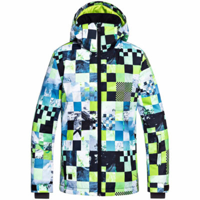 Veste Quicksilver MISSION PRINTED YOUTH JK LIME GREEN MONEY TIME 2019