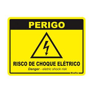 Placa Sinalização Risco de Choque Elétrico