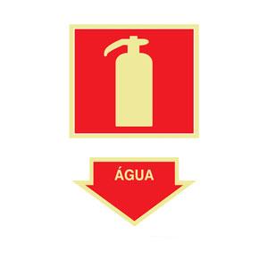 Placa Sinalização Extintor de Água