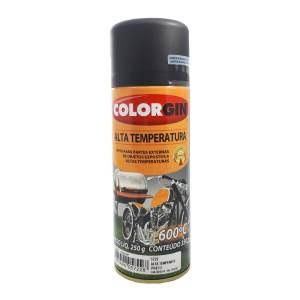 Tinta Alta Temperatura Colorgin Spray Preta 350ML
