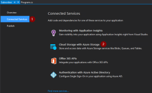 Add Azure Storage