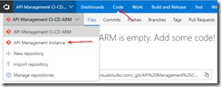 Switch to API Management instance repository