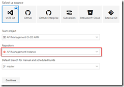 Select API Management instance repository