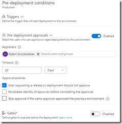Enable pre-deployment approvals