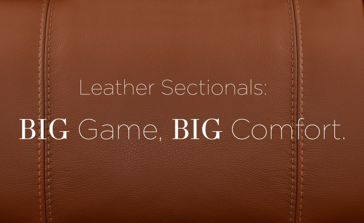 Leather Sectionals: Big Game, Big Comfort