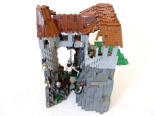 construye tejados con LEGO: emulando madera