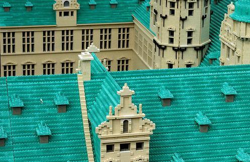 construye tejados con LEGO: ladrillos turquesa