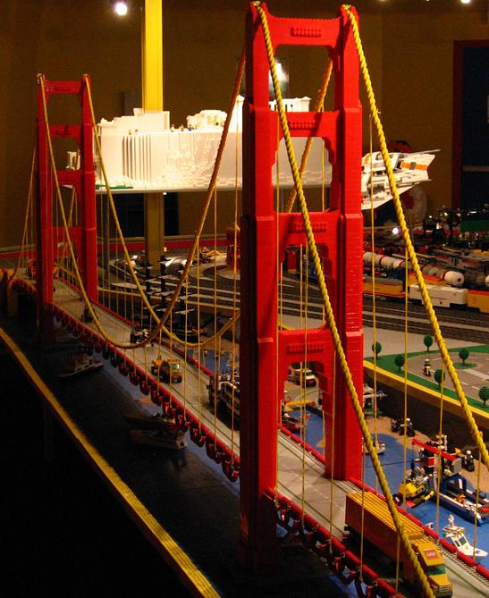 Puentes con LEGO: golden gate