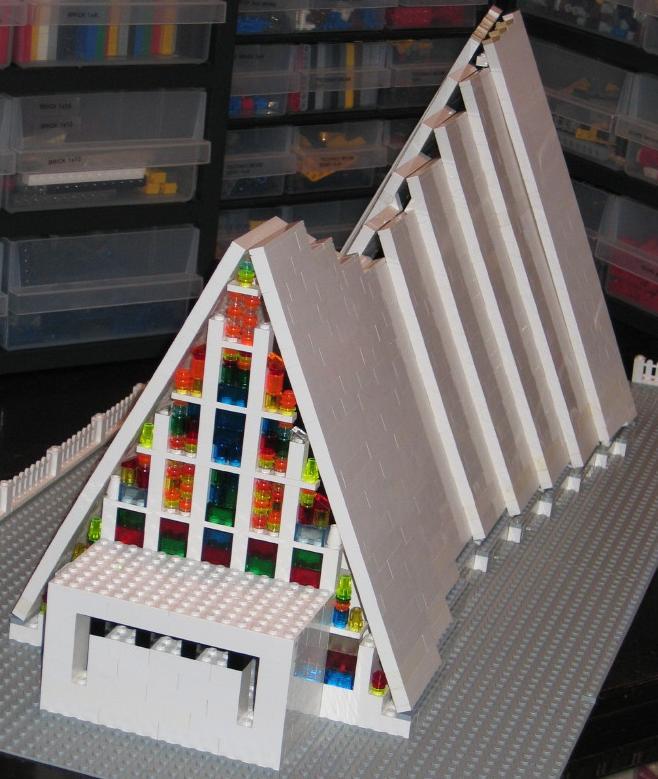 construye tejados con LEGO: Tromsdalen Kirke - Ishavskatedralen - Cathedral - Churc