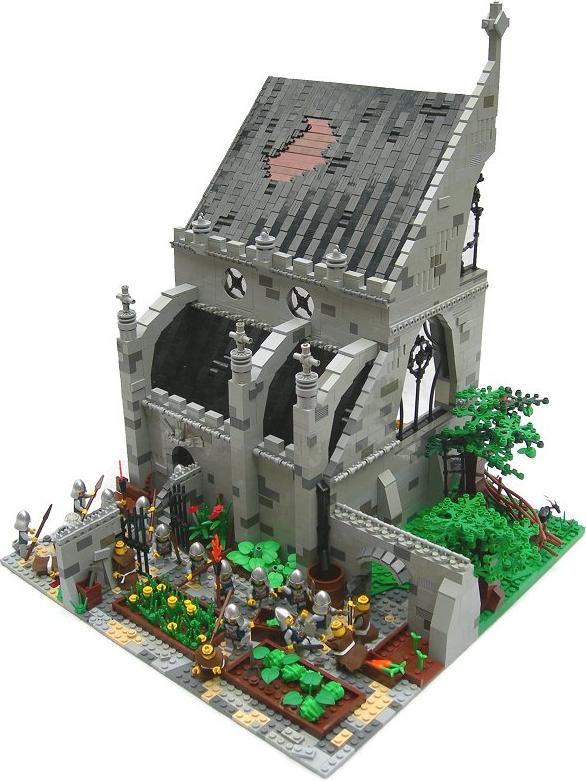 construye tejados con LEGO: Dissolution of a monastery 1536