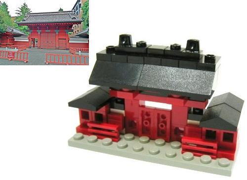 Micro edificios con LEGO: Puerta roja de Akamon