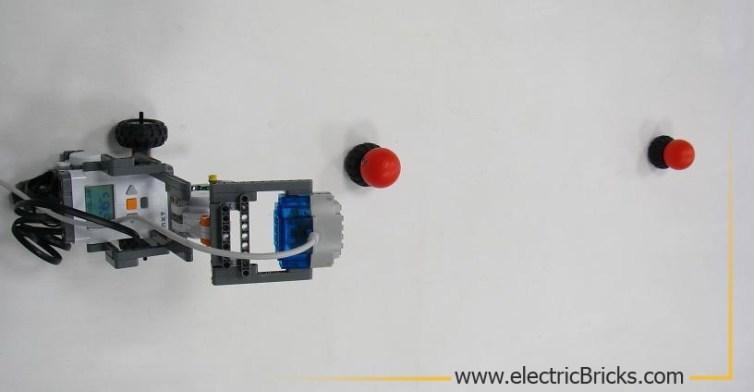 robot y experimento para la deteccion