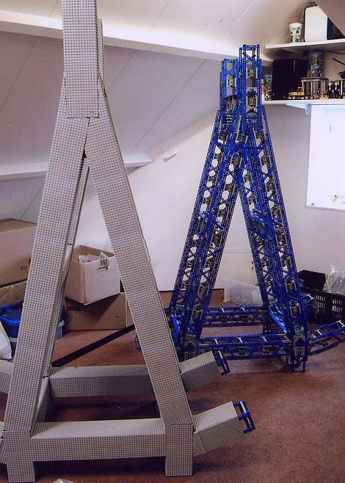 Puentes gigantes con LEGO: Estructura de la torre principal