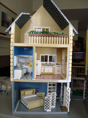 Katrina Cottage en LEGO - interior