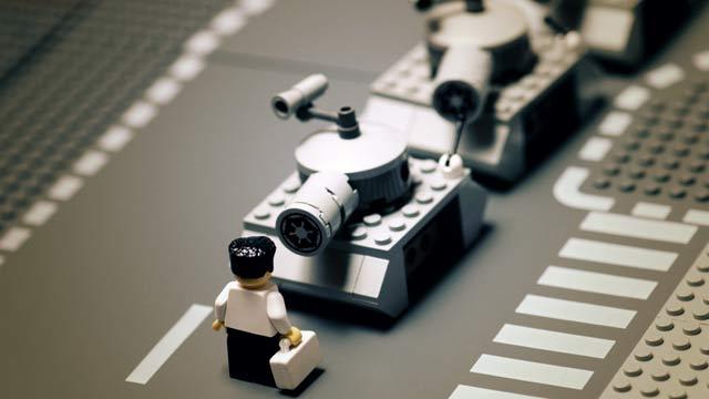 Fotos famosas en LEGO: tiannamen