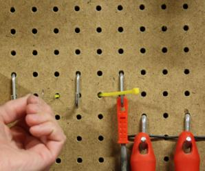 54) Using Zip Ties to Secure Pegboard Hangers #NewThingEveryDay