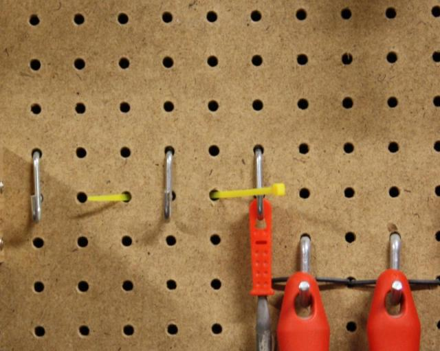 5 - Zip Tie End is Through the Pegboard