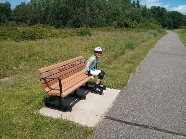 Mia on the Rice Creek Trail