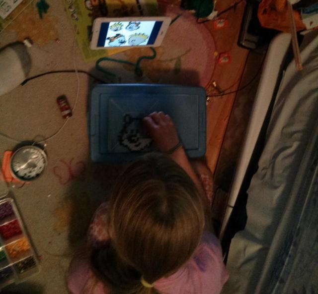 My daughter making Hobbes