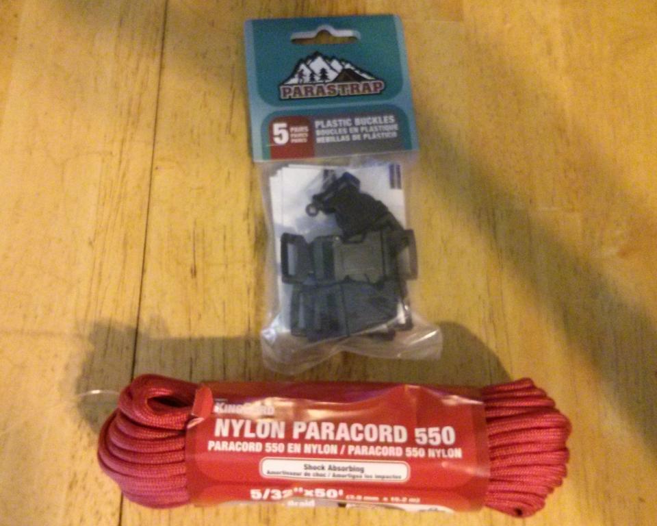 Paracord bracelet supplies