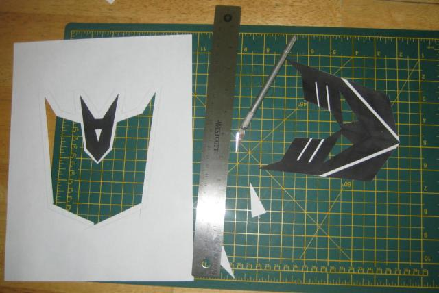 Cutting out the Decpticon Symbol